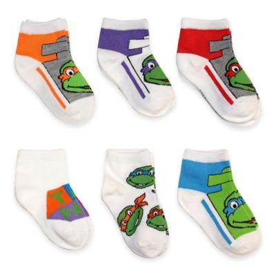 Teenage Mutant Ninja Turtles Size 2T-4T 6-Pack Quarter Socks