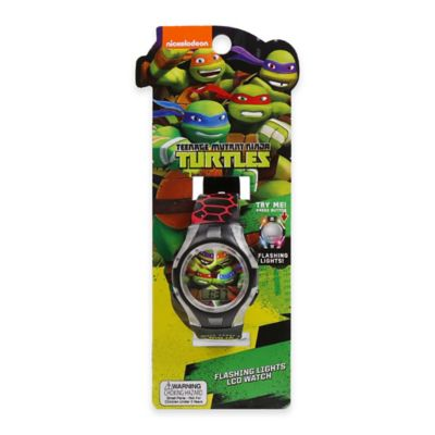 Nickelodeon™ Teenage Mutant Ninja Turtles Flashing Lights LCD Watch with Clear Case