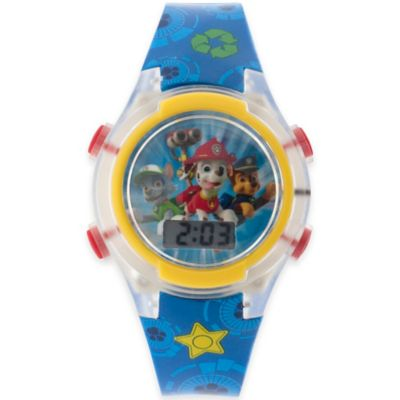 "Nickelodeon™ ""Paw Patrol"" Flashing Lights LCD Watch with Clear Case"