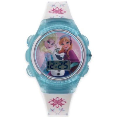 "Disney® ""Frozen"" Flashing Lights LCD Watch with Clear Blue Case"