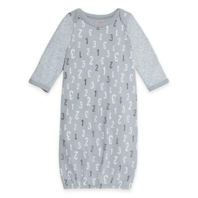 Grey Newborn Gown