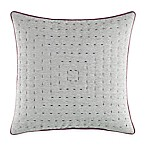 Manor Hill® Cortlandt Dash Stitched Square Throw Pillow in Grey
