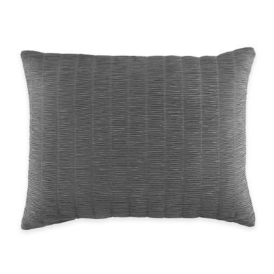 Manor Hill® Cortlandt Shirred Oblong Throw Pillow in Grey