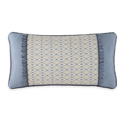 Waterford® Linens Folie Pieced Oblong Throw Pillow in Beige
