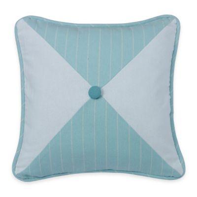 Catalina Reversible Square Throw Pillow in Aqua/White
