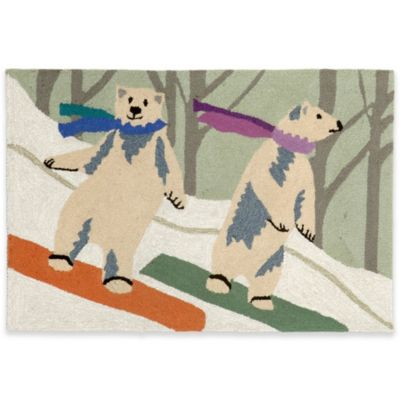 Boarding Bears 24-Inch x 36-Inch Indoor/Outdoor Rug in Multi