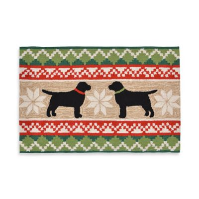 Nordic Dogs 20-Inch x 30-Inch Indoor/Outdoor Rug in Multi