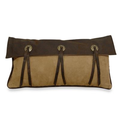 HiEnd Accents Polyester Long Star Concho Decorative Pillow in Chocolate