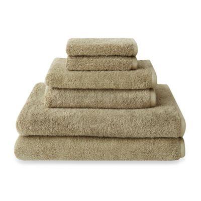 Red Brown Bath Towels