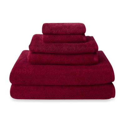 Amaze by Welspun Quick Dry Bath Towels in Red (Set of 6)