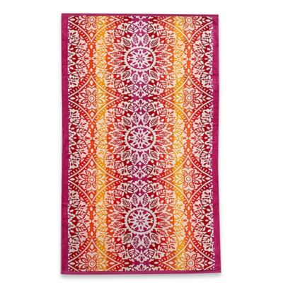 Ombre Medallion Oversized Beach Towel