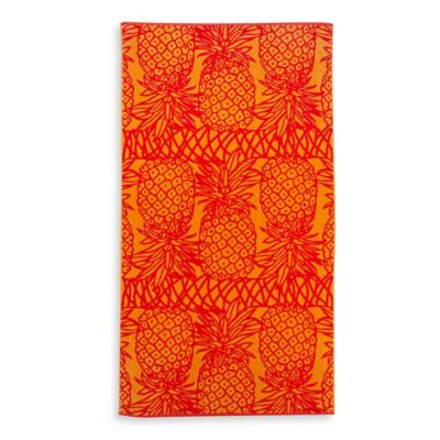 Lace Pineapple Oversized Beach Towel in Orange