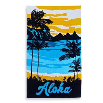 """Aloha"" Tropical Beach Towel"