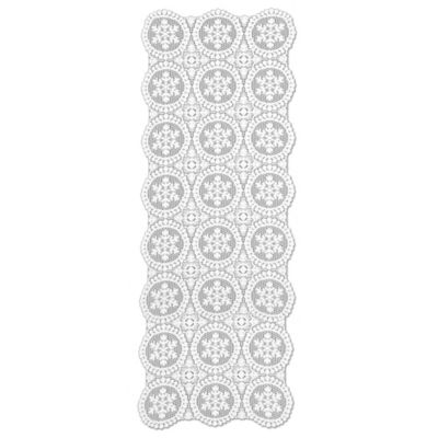 Heritage Lace® Yuletide 52-Inch Table Runner in White