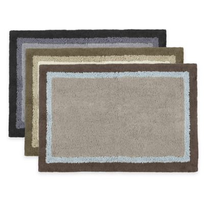 Madison Park Amherst 20-Inch x 30-Inch Bath Rug in Black