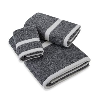 Logan Bath Towel in Navy