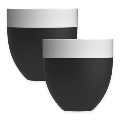 Magisso Self-Cooling Glasses in Black/White (Set of 2)