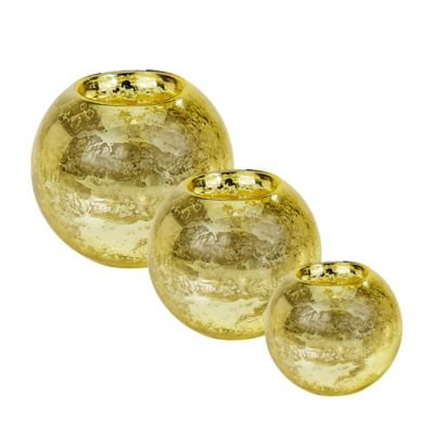 Tinsley Mortimer Small Bubble Votive in Gold