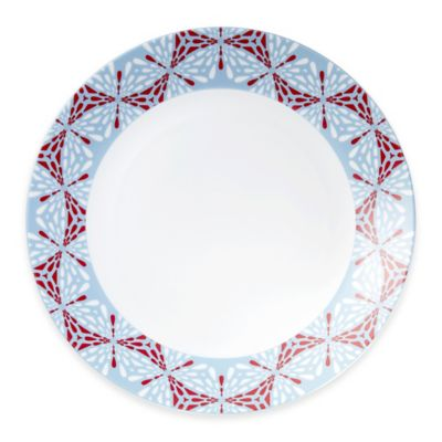 B by Brandie™ Frazier Charger Plate in Red/Grey