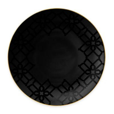 B by Brandie™ Whitney Charger Plate in Black/Gold