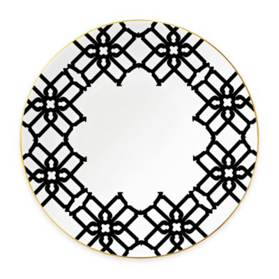 B by Brandie™ Grande Truman Charger Plate in Black/Gold