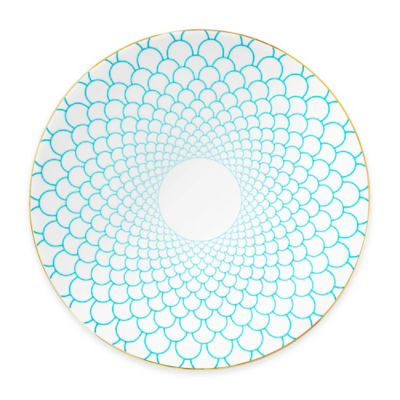 B by Brandie™ Grande Maxwell Charger Plate in Turquoise/Gold