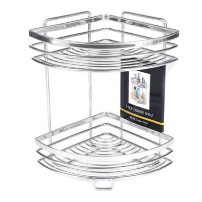 2-Tier Wire Vanity Corner Shelf