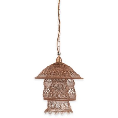 Brocade Pagoda Pendant