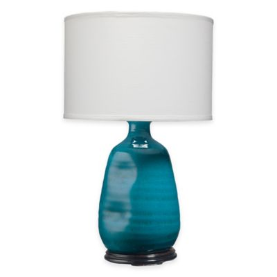 Jamie Young Dimple Vase Table Lamp in Cobalt