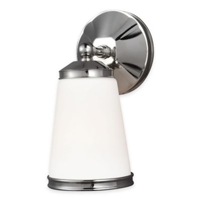 Feiss® Eastwood 1-Light Wall Sconce in Polished Nickel with LED Bulb