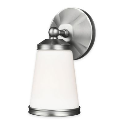 Feiss® Eastwood 1-Light Wall Sconce in Satin Nickel with LED Bulb