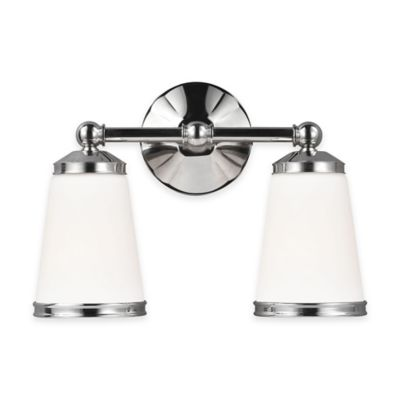 Feiss® Eastwood 2-Light Vanity Light in Polished Nickel with CFL Bulb