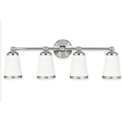 Feiss® Eastwood 4-Light Vanity Light in Polished Nickel with CFL Bulb