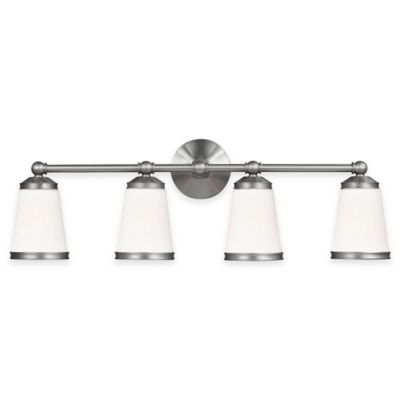 Feiss® Eastwood 4-Light Vanity Light in Satin Nickel with CFL Bulb