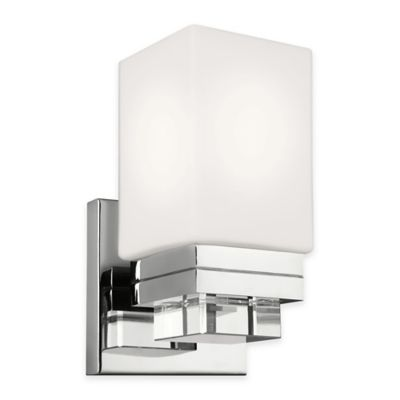 Feiss® Maddison 1-Light Wall Sconce in Polished Nickel with LED Bulb