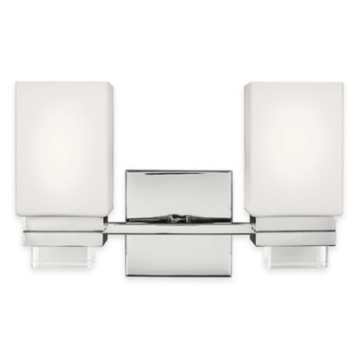 Feiss® Maddison 2-Light Vanity Light in Polished Nickel