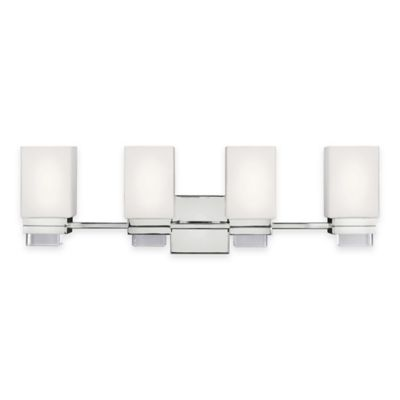Vanity Lights Bed Bath And Beyond : Buy Feiss Maddison 4-Light Vanity Light in Polished Nickel from Bed Bath & Beyond