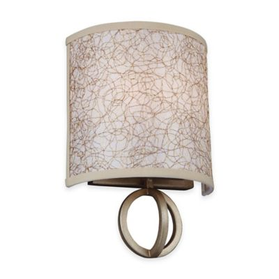 Feiss® Parchment Park 2-Light Wall Sconce in Burnished Silver