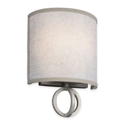 Feiss® Parchment Park 2-Light Wall Sconce in Dark Silver