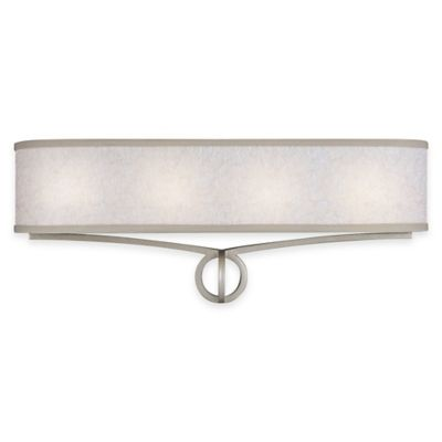 Feiss® Parchment Park 4-Light Vanity Light in Dark Silver