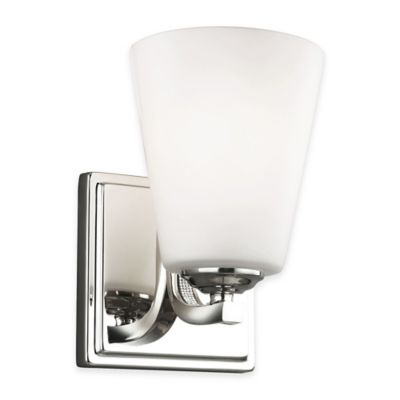 Feiss® Pave 1-Light Wall Sconce in Polished Nickel with CFL Bulb