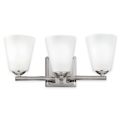 Feiss® Pave 3-Light Vanity Light in Polished Nickel