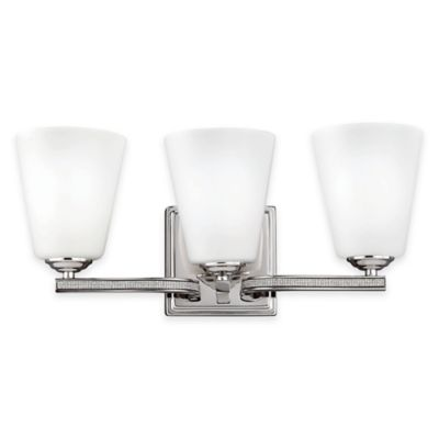 Feiss® Pave 3-Light Vanity Light in Polished Nickel with CFL Bulb