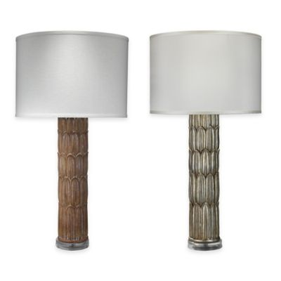 Jamie Young Carved Column Table Lamp in Natural