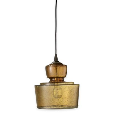 Jamie Young Lafitte 1-Light Glass Pendant in Celadon