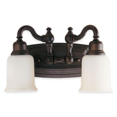 Feiss® Canterbury 2-Light Bath Vanity Fixture in Oil-Rubbed Bronze