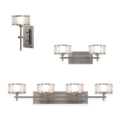 Feiss® Casual Luxury 2-Light Bath Wall Sconce in Brushed Steel