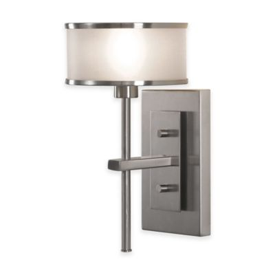 Feiss® Casual Luxury 1-Light Bath Wall Sconce in Brushed Steel