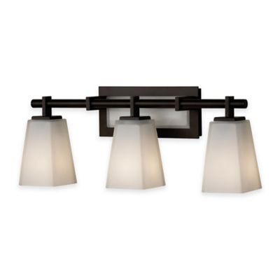 Feiss® Clayton 3-Light Bath Vanity Fixture in Oil-Rubbed Bronze