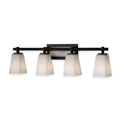 Feiss® Clayton 4-Light Bath Vanity Fixture in Oil-Rubbed Bronze